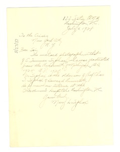 Thumbnail of Letter from May L. Syphax to Crisis