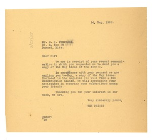 Thumbnail of Letter from Crisis to D. C. Thurmond