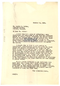 Thumbnail of Letter from W. E. B. Du Bois to A. T. Walden