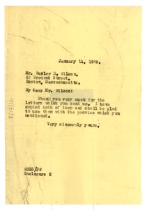 Thumbnail of Letter from W. E. B. Du Bois to Butler R. Wilson