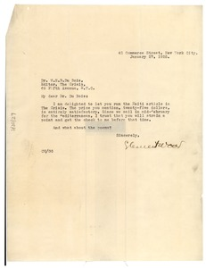 Thumbnail of Letter from Clement Wood to W. E. B. Du Bois