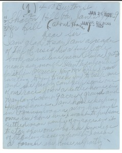 Thumbnail of Letter from Mrs. Charles Alexander to Augustus Granville Dill