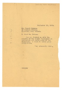 Thumbnail of Letter from W. E. B. Du Bois to Gerald Norman
