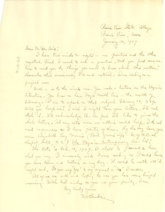 Thumbnail of Letter from G. V. Banks to W. E. B. Du Bois