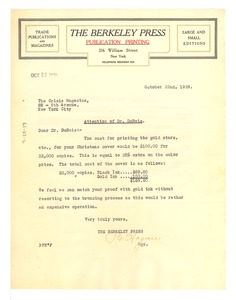 Thumbnail of Letter from The Berkeley Press to The Crisis