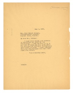 Thumbnail of Letter from W. E. B. Du Bois to Bethune-Cookman College