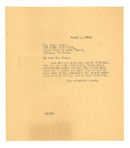 Thumbnail of Letter from W. E. B. Du Bois to Binga State Bank