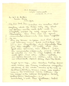 Thumbnail of Letter from J. M. Boddy to W. E. B. Du Bois
