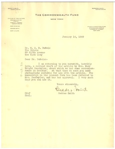Thumbnail of Letter from The Commonwealth Fund to W. E. B. Du Bois