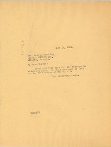 Thumbnail of Letter from W. E. B. Du Bois to Carrie Bond Day