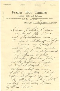 Thumbnail of Letter from Essel J. Dickerson to the editor of The Crisis