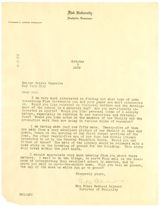 Thumbnail of Letter from Fisk University to the editor of The Crisis.