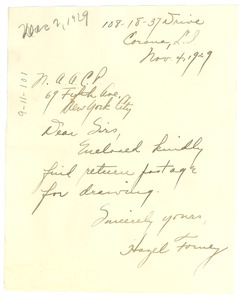 Thumbnail of Letter from Hazel Forney to the NAACP