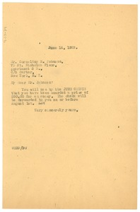 Thumbnail of Letter from W. E. B. Du Bois to Cornelius N. Johnson