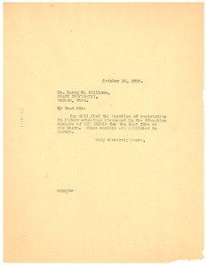 Thumbnail of Letter from W. E. B. Du Bois to Miami University