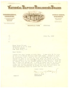 Thumbnail of Letter from National Baptist Publishing Board to Crisis