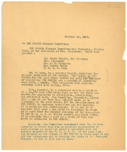 Thumbnail of Letter from W. E. B. Du Bois to Crisis Finance Committee
