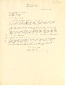 Thumbnail of Letter from Thomas J. Calloway to Cerella Shook