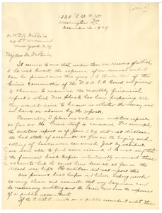 Thumbnail of Letter from Thomas J. Calloway to W. E. B. Du Bois