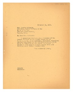 Thumbnail of Letter from W. E. B. Du Bois to N.A.A.C.P. Dayton Branch
