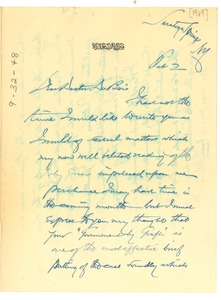 Thumbnail of Letter from George Foster Peabody to W. E. B. Du Bois