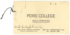 Thumbnail of Business card of Poro College