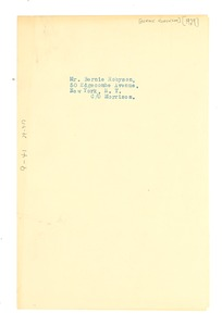 Thumbnail of Address of Bernie Robynson