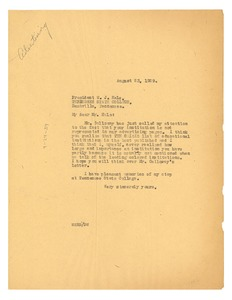 Thumbnail of Letter from W. E. B. Du Bois to Tennessee State College
