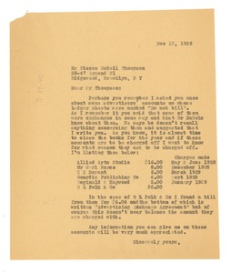 Thumbnail of Letter from Crisis to Pierce McNeil Thompson
