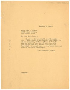 Thumbnail of Letter from W. E. B. Du Bois to Phillis Wheatley Association