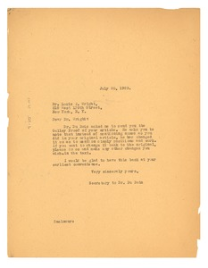 Thumbnail of Letter from Crisis to Louis T. Wright