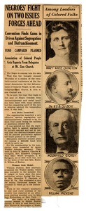 Thumbnail of Newspaper clipping about an NAACP conference