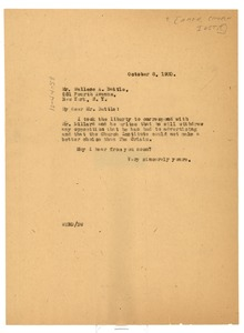 Thumbnail of Letter from W. E. B. Du Bois to the American Church Institute for             Negroes