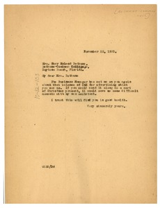 Thumbnail of Letter from W. E. B. Du Bois to Mary McLeod Bethune