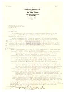 Thumbnail of Letter from Joseph B. Brown to the Crisis