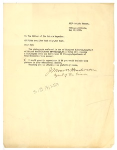 Thumbnail of Letter from J. Monroe Henderson to the Crisis