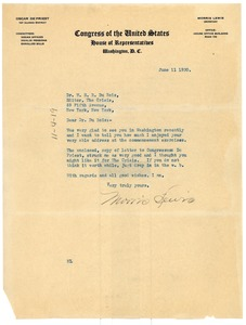 Thumbnail of Letter from Maurice Lewis to W. E. B. Du Bois