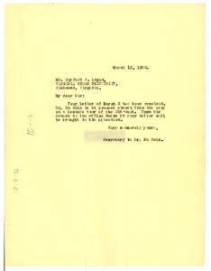 Thumbnail of Letter from Daisy Wilson to Rayford W. Logan