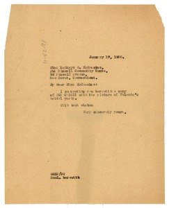 Thumbnail of Letter from W. E. B. Du Bois to Kathryn M. McCracken