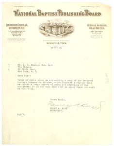 Thumbnail of Letter from Henry A. Boyd to the Crisis
