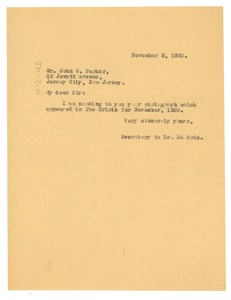 Thumbnail of Letter from Crisis to John W. Parker
