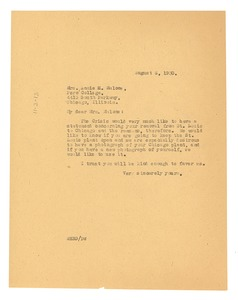 Thumbnail of Letter from W. E. B. Du Bois to Poro College