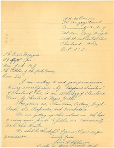 Thumbnail of Letter from James H. Robinson to Editor of the Crisis