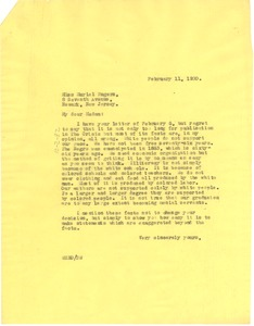 Thumbnail of Letter from W. E. B. Du Bois to Muriel Rogers