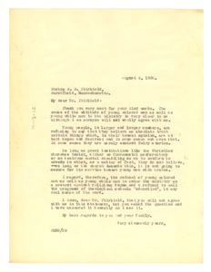Thumbnail of Letter from W. E. B. Du Bois to Hiram Thirkfield