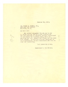 Thumbnail of Letter from Crisis to Henry W. Thomas, Jr.