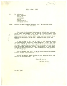 Thumbnail of Letter from Y.M.C.A. to Crisis