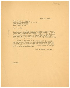 Thumbnail of Letter from W. E. B. Du Bois to Y.M.C.A.