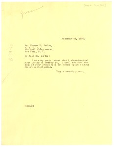 Thumbnail of Letter from W. E. B. Du Bois to Y.M.C.A. of New York