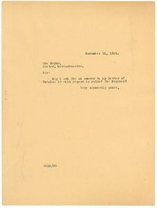 Thumbnail of Letter from W. E. B. Du Bois to Mayor of Boston